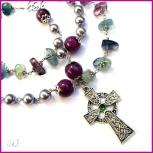 Collana rosario con croce celtica